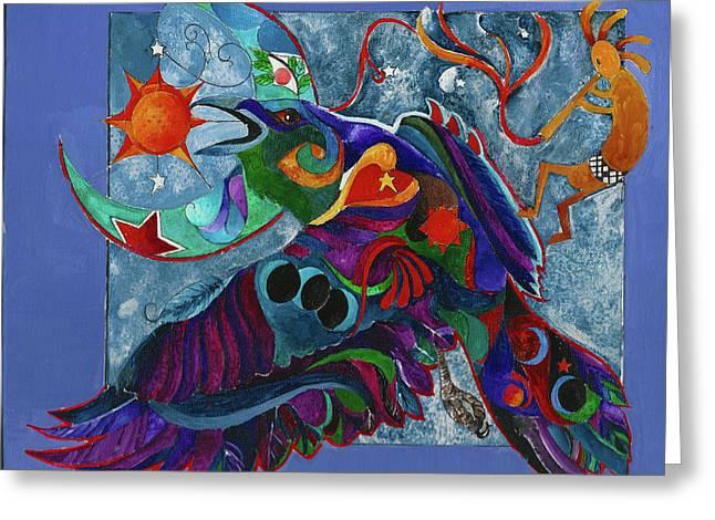 Spirit Raven Totem Greeting Card