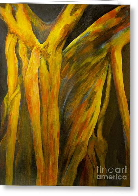 Spirit Rising Greeting Card by Olga Zamora