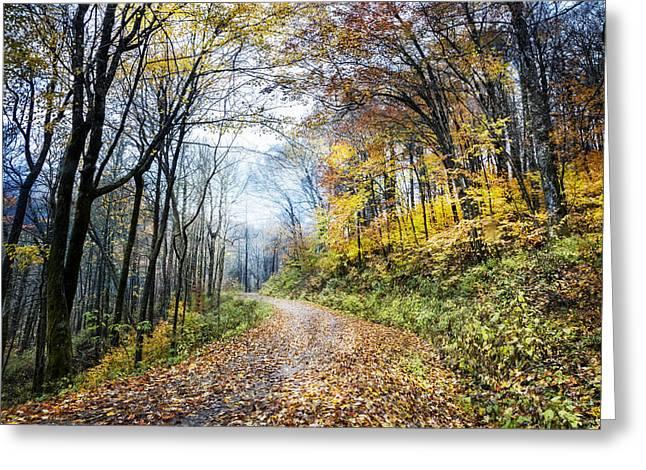 Spirit Trail Greeting Card by Debra and Dave Vanderlaan