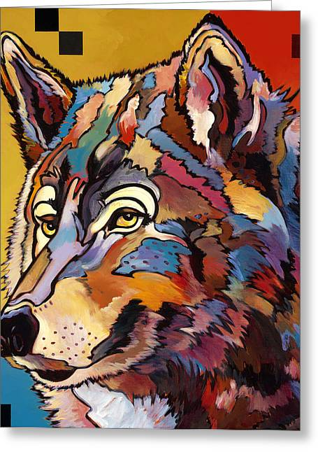 Spirit Wolf Greeting Card by Bob Coonts