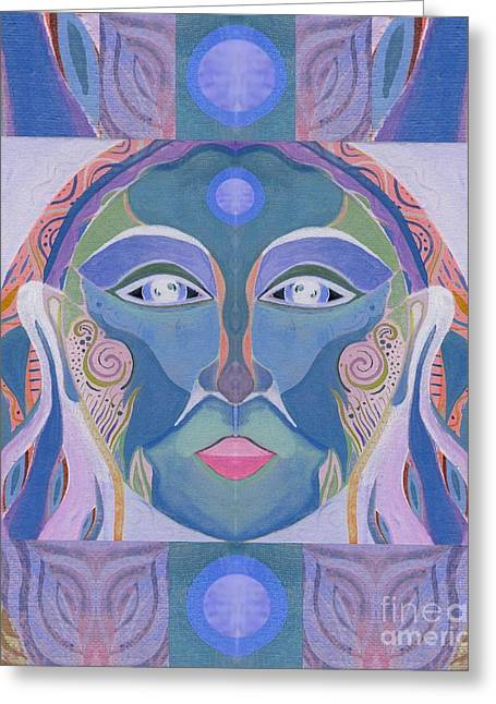 Spirit Woman Greeting Card by Helena Tiainen