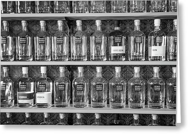 Greeting Card featuring the photograph Spirit World Bottles by T Brian Jones