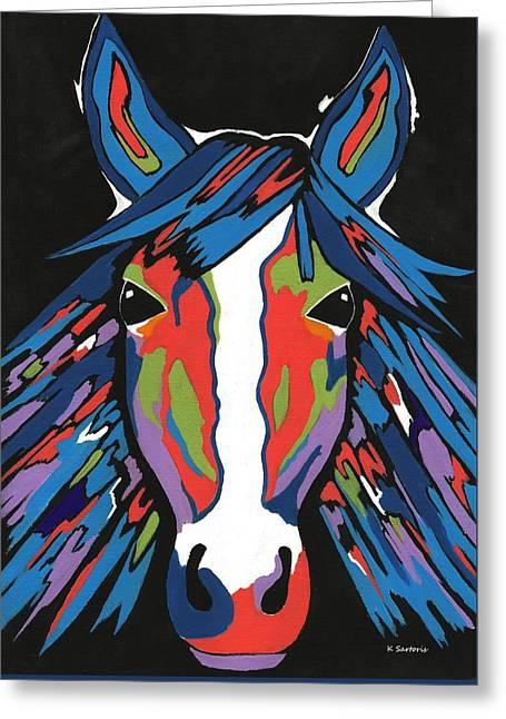Spirited Horse Greeting Card