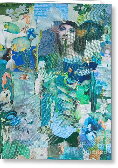 Greeting Card featuring the mixed media Spirits Of The Sea by Sandy McIntire