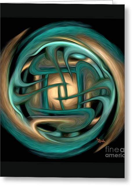 Spiritual Art - Healing Labyrinth By Rgiada Greeting Card