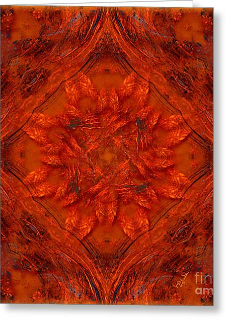Spiritual Art - Orange Energy By Rgiada Greeting Card by Giada Rossi
