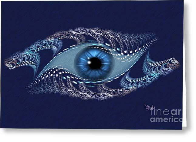 Spiritual Art - The Third Eye By Rgiada Greeting Card by Giada Rossi