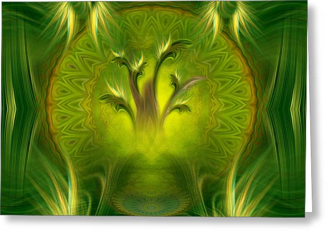 Spiritual Art - Tree Of Wisdom By Rgiada Greeting Card