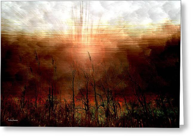 Spiritual Awakening Greeting Card by Linda Sannuti