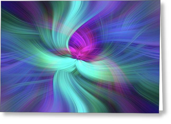 Spiritual Freedom. Mystery Of Colors Greeting Card