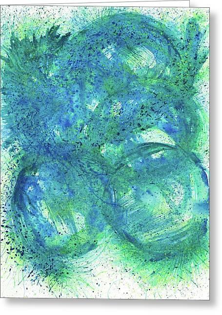 Spiritual Guidence - The Birth Of My Art #119 Greeting Card by Rainbow Artist Orlando L aka Kevin Orlando Lau