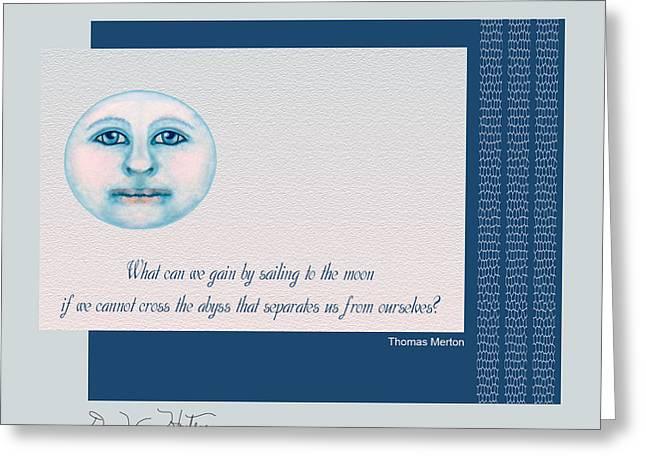 Spiritual Moon Greeting Card