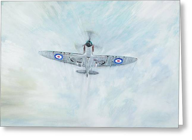 Spitfire   Ace Of Spades Greeting Card