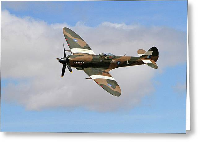 Spitfire Against The Clouds Greeting Card