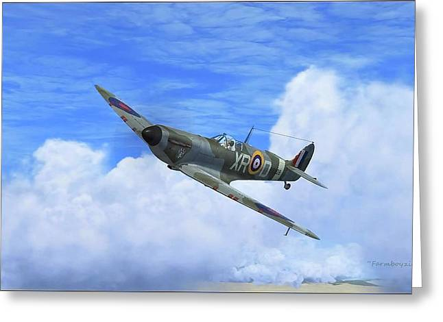 Spitfire Airborne Greeting Card