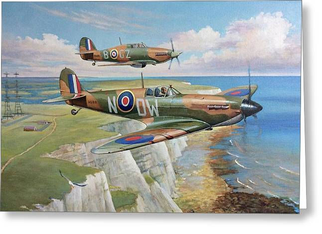 Spitfire And Hurricane 1940 Greeting Card
