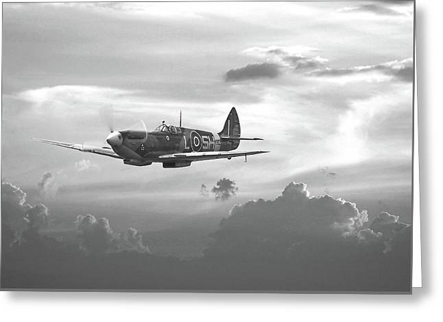 Spitfire - And Shadows Fall Greeting Card