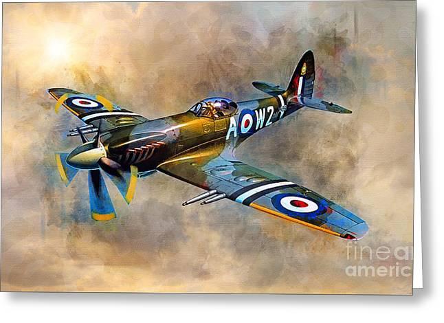 Spitfire Dawn Flight Greeting Card