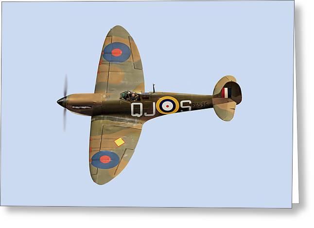 Spitfire Mk 1 R6596 Qj-s Greeting Card