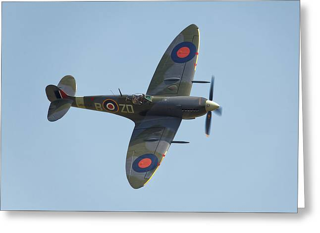 Spitfire Mk9 Greeting Card by Ian Merton