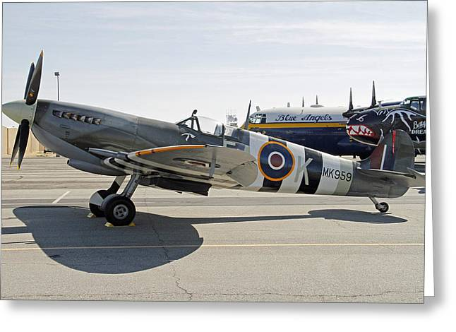 Spitfire Greeting Card by Shoal Hollingsworth