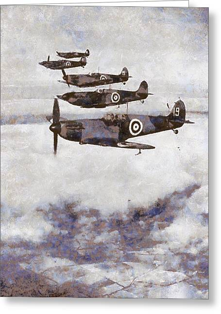 Spitfires Greeting Card by Esoterica Art Agency