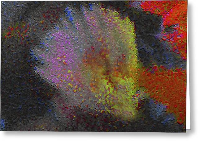 Greeting Card featuring the photograph Splash - Abstract Digital Painting by Merton Allen