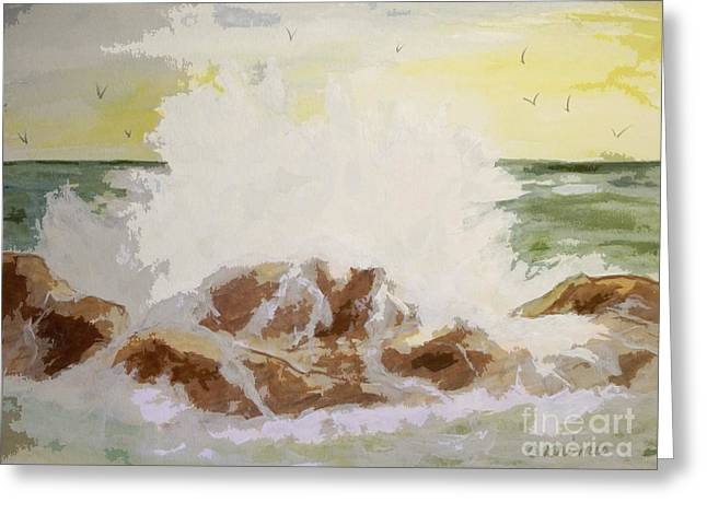 Splash Greeting Card by Carol Grimes