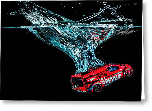 Greeting Card featuring the photograph Splash Down by Nick Bywater