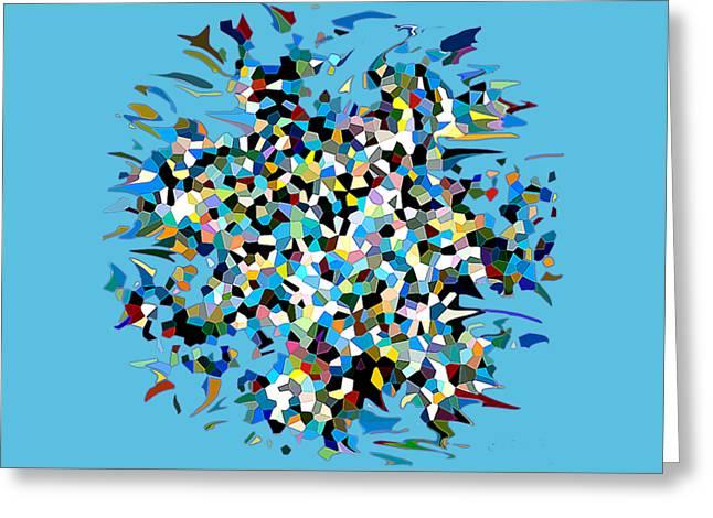 Greeting Card featuring the digital art Splash by Eleni Mac Synodinos