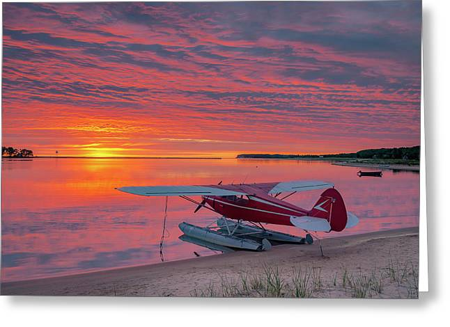 Splash-in Sunrise Greeting Card by Gary McCormick