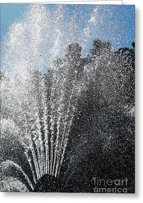 Splash Into The Sky Greeting Card by Hideaki Sakurai
