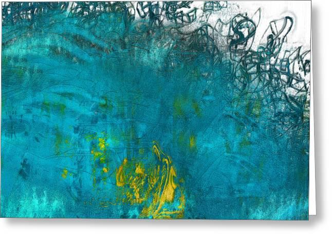 Splash Greeting Card by Jack Zulli