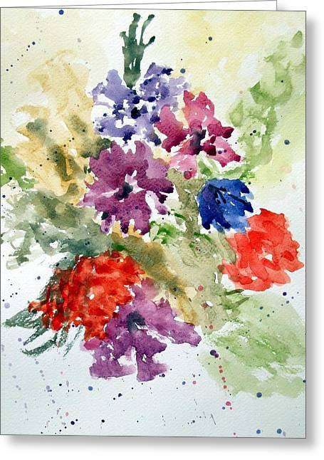 Splash Greeting Card by Jean Billsdon