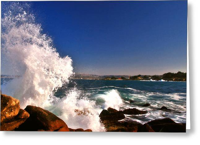 Greeting Card featuring the photograph Splash by Larry Darnell
