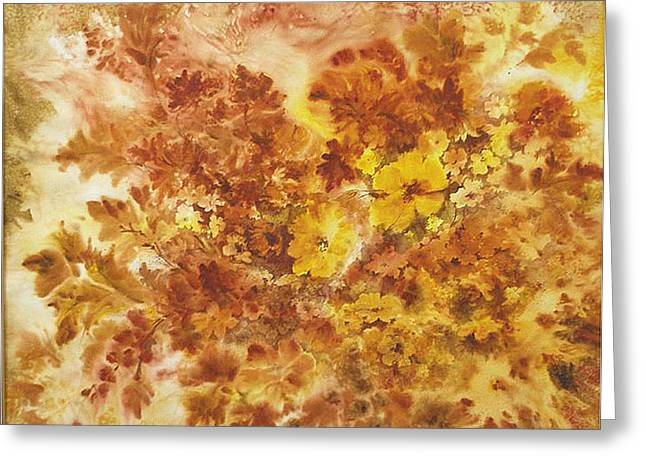 Splash Of Autumn Color Greeting Card by Lois Mountz