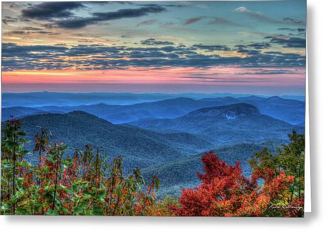 Splash Of Color Looking Glass Rock Sunrise Art Greeting Card by Reid Callaway