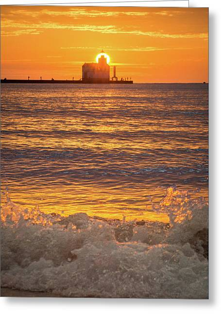 Greeting Card featuring the photograph Splash Of Light by Bill Pevlor