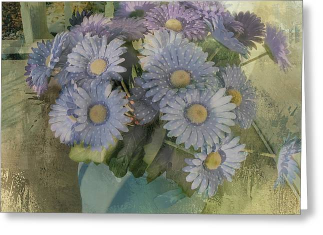 Splash Of Purple Flowers Greeting Card by Theresa Campbell