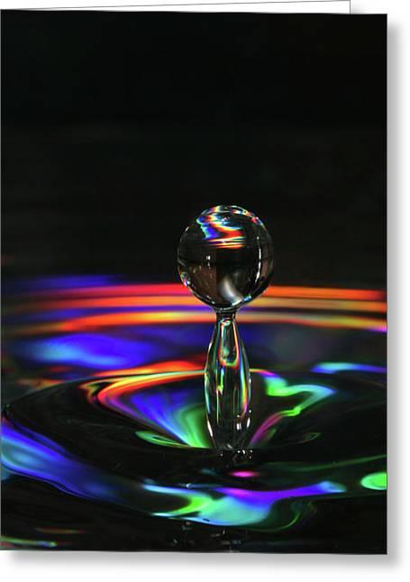 Splash Of Rainbow Greeting Card