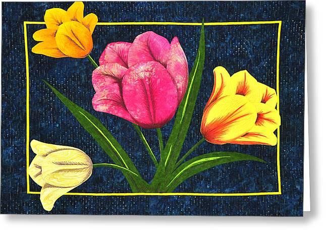 Splash Of Tulips Greeting Card
