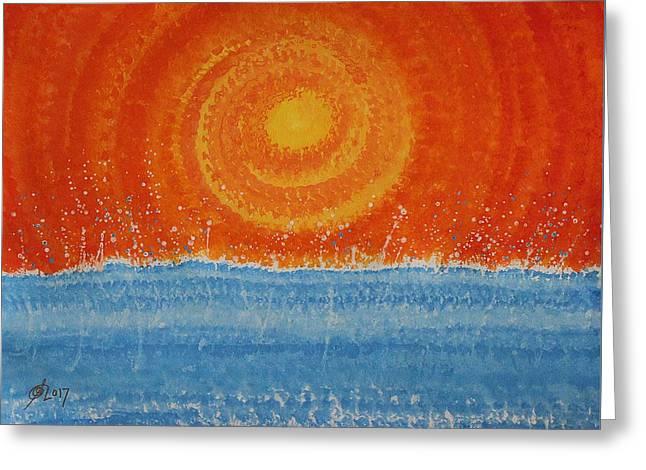 Splash Original Painting Greeting Card