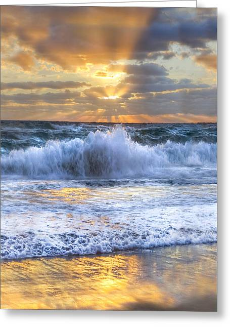 Splash Sunrise II Greeting Card