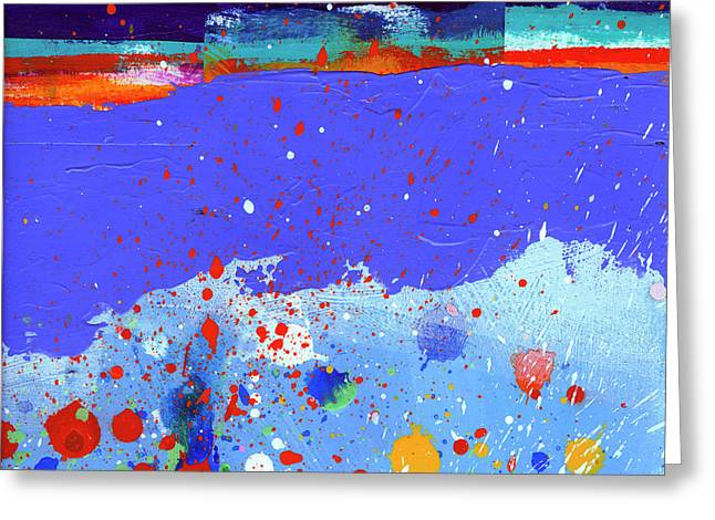 Splash#5 Greeting Card by Jane Davies