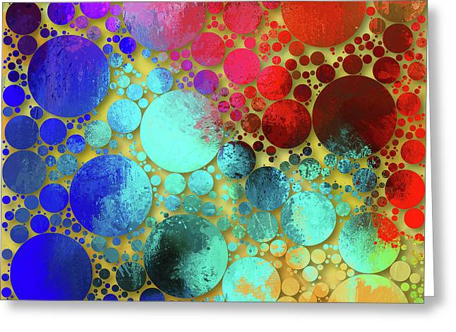 Splatter Of Happiness Abstract Greeting Card by Georgiana Romanovna
