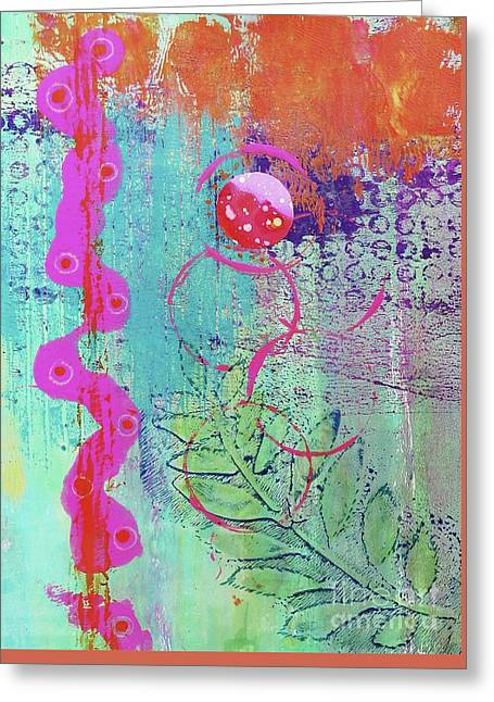 Splendid Day In Abstract Greeting Card by Desiree Paquette