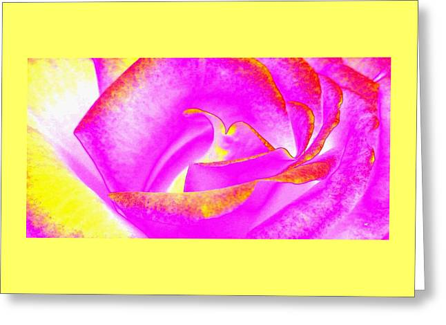 Greeting Card featuring the mixed media Splendid Rose Abstract by Will Borden