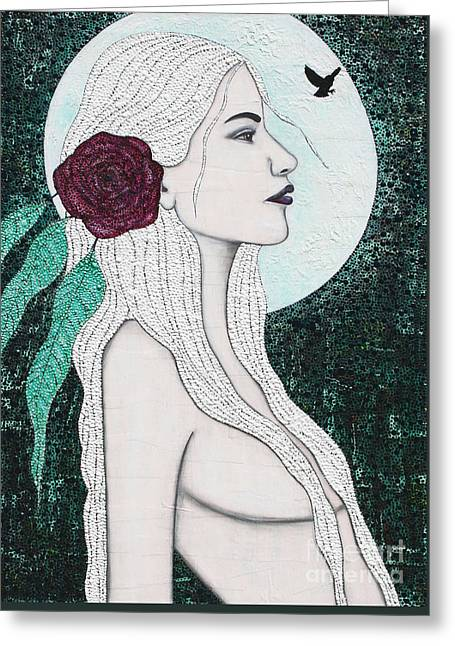 Greeting Card featuring the mixed media Splendour by Natalie Briney