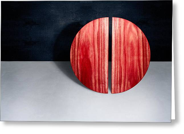 Split Circle Red Greeting Card