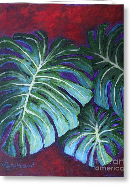 Split Leaf Philodendron Greeting Card